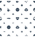 cute icons pattern seamless white background vector image vector image