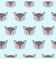 cute kids wolf pattern for girls and boys vector image vector image