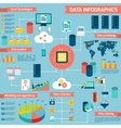 Data infographic set vector image