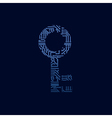 Data security icon circuit board key vector image vector image