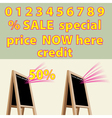 Discount Storefront chalkboard labels to right vector image vector image