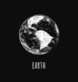 earth planet world globe icon vector image