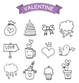 element valentine day icons vector image vector image