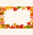 fallen gold and red autumn forest leaves october vector image