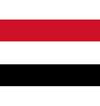 Flag of Yemen vector image vector image