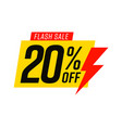 flash sale 20 percent off template isolated