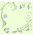 floral ornament design vector image vector image