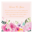 flower garden wedding card vector image