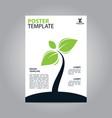 flyer brochure poster go green nature modern vector image vector image