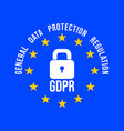 gdpr - general data protection regulation in vector image