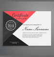 geometric certificate design in modern style vector image vector image