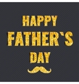 Golden glittering Happy Fathers Day card