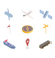 gps app icons isometric set vector image vector image