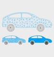 hatchback mesh wire frame model and vector image vector image