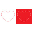 heart grunge frame valentines day card vector image vector image