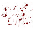 inky blood splat with a red abstract shape vector image