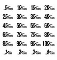 isolated black color numbers with word years icons