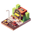 isometric hardware shop vector image