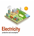 Isometric landscapeElectricity vector image
