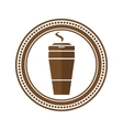 Logo coffee cup in a flat style vector image vector image