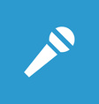 microphone icon white on blue background vector image