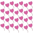 pink heart lovely valentine day seamless pattern vector image vector image
