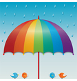 raining sky background vector image vector image