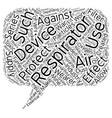 Respirators text background wordcloud concept vector image vector image