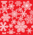 seamless pattern of various beautiful snowflakes vector image