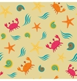 seamless pattern with crabs vector image vector image