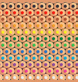 seamless pattern with rows colored pencils vector image