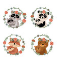 set isolated mother and baby animals 1 vector image