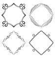 set nice decorative frames vector image vector image