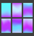 set of calm blue and violet gradient ui background vector image