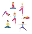 Set of Yoga class vector image vector image