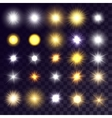 sets of bright suns vector image vector image