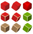 simple color cubes vector image vector image