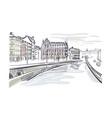 sketch european city stockholm center sweden vector image