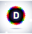 Spectrum logo icon Letter D vector image vector image