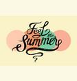 summer calligraphic vintage grunge inscription vector image
