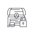 treasure chest line icon concept treasure chest vector image