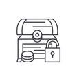 treasure chest line icon concept treasure chest vector image vector image