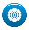 tyre icon blue vector image vector image