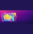 unboxing video concept banner header vector image vector image