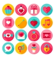 Valentine Day Flat Icons vector image vector image