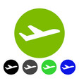 valid airplane departure flat icon vector image vector image