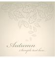 vintage autumn vector image vector image