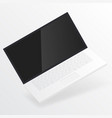 white open laptop with blank screen vector image vector image