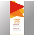 Flyer Headline design Paper icon Colorful design vector image