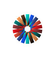 circular multicolored pattern spirographic symbol vector image